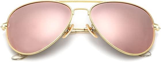 YuFalling Polarized Aviator Sunglasses for Women and Men