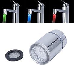 Ritioner Mini LED Light Jet deau Robinet T/ête Multiple Couleur 7 Couleurs Saut Changeant Convient pour Lavabo /évier Cuisine Salle de Bain
