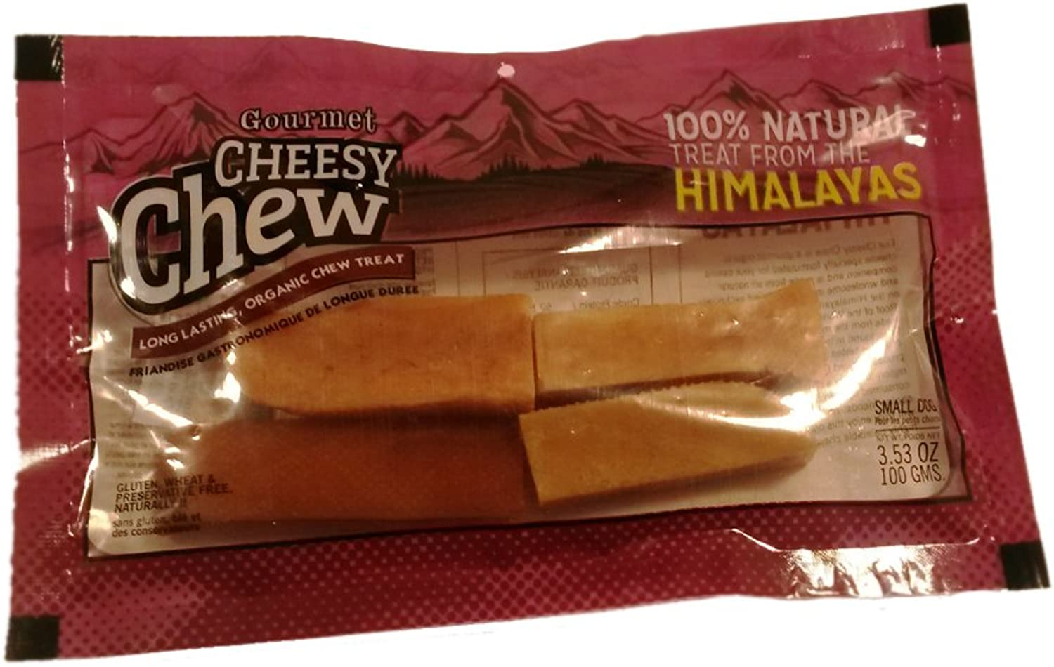 Advance Pet Products Himalayas Gourmet Cheesy Chews For Small Dogs, 3.58Ounce