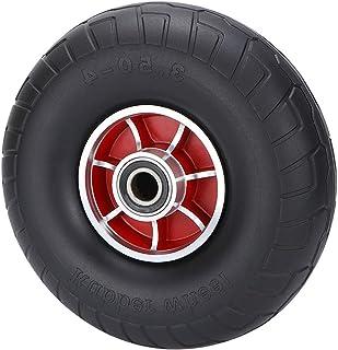 YJJT Rubber wiel, Stevig wiel, Airless Bandaccessoires, Uitgerust met dubbele kogellagers, Flexibel, Vlotte en Stille Rota...