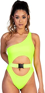 iHeartRaves Women's Strappy Cut Out One Piece Rave Bodysuits