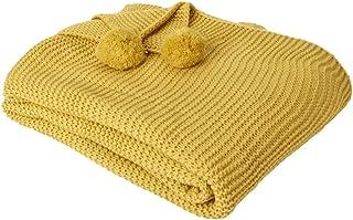 hipoalerg/énica Amarillo Mostaza Manta de Verano Gruesa y acogedora c/álida y Transpirable 100x80cm lulalula Manta de Punto para beb/é Manta para Cochecito para ni/ños y ni/ñas Suave
