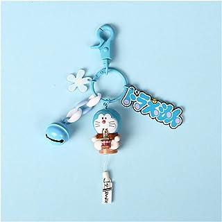 Cartoon Keychain Anime Cartoon Cute Doraemon Mini PVC Figure Model Doll Keychain Jingle Cat Keyrings for Child Toys Interi...
