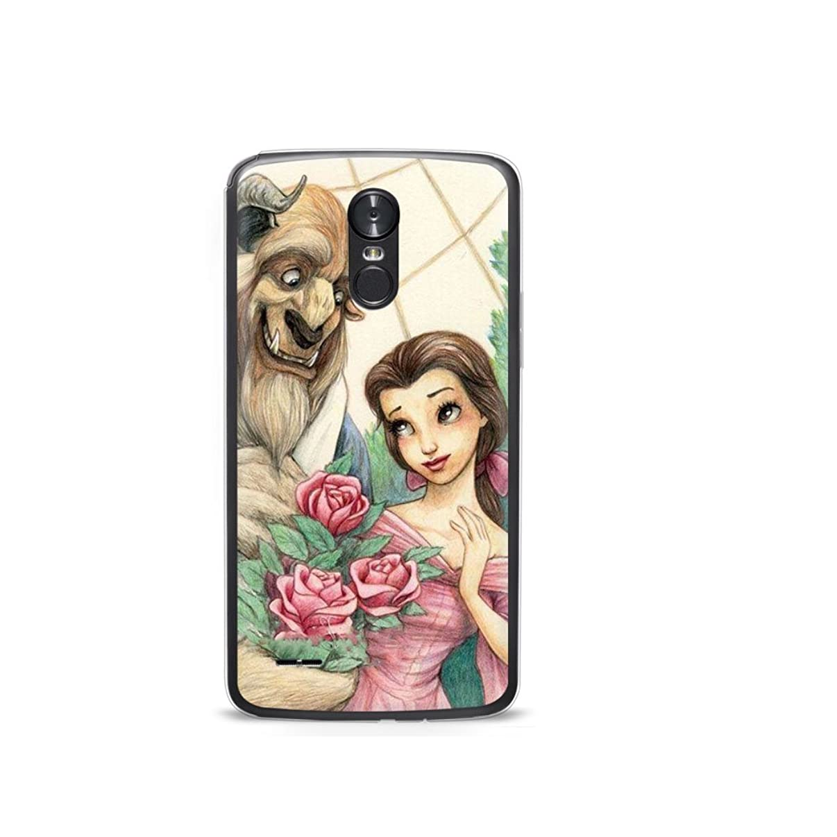 GSPSTORE LG K8 2017 Case Beauty and The Beast Cartoon Hard Plastic Protector iPhone Case Cover for K8 2017/LG Aristo/LG V3 MS210/LG LV3/LG Phoenix 3