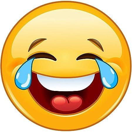 Easydruck24de Smiley Aufkleber Tears I Kfz 307 I Rund Ø 10 Cm I Emoticon Sticker Lachend Für Laptop Roller Motorrad Auto Tür Und Mehr I Wetterfest Auto
