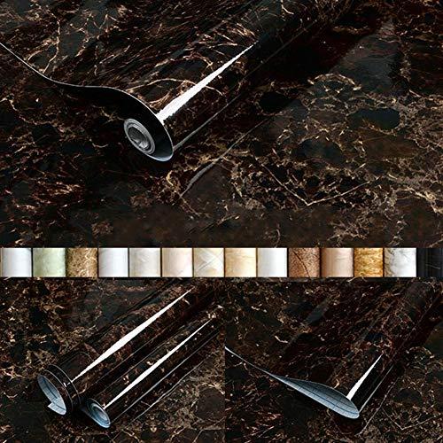 Liveinu Aufkleber Küchenschränke PVC Tapeten Küche Selbstklebend Klebefolie Möbel Wasserfest Aufkleber für Schrank Küchenschränke Möbel Selbstklebende Folie Küchenschrank Schwarz 60x300cm