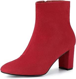 Women's Dress Side Zip Chunky Heel Ankle Boots