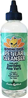 Bodhi Dog Natural Pet Ear Cleaner for Dogs and Cats | Eucalyptus & Aloe Vera Treatment for Ear Mites Yeast Infection Fungus & Odor | Gentle Cleanser for Ears - Original or Alcohol-Free - 8oz (240ml)