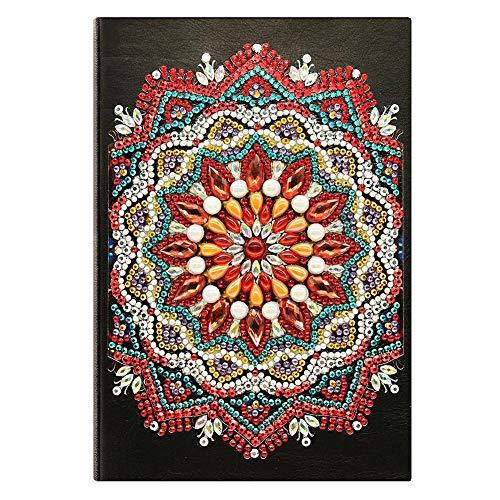 Pintura cuaderno con diamantes cuaderno de punto de cruz 5D con diseño de diamantes, cuaderno liso A5 ,bloc de escritura cuadernos de bocetos cuadernos pintura niños con diseño regalo niña