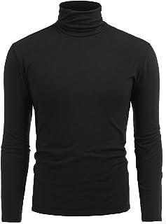 Twinklady Mens Turtleneck Casual Long Sleeve Sweatshirt Knitted Thermal Tops Slim Fit Pullover Sweaters