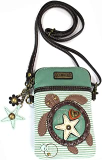 Chala Crossbody Cell Phone Purse - Women PU Leather Multicolor Handbag with Adjustable Strap