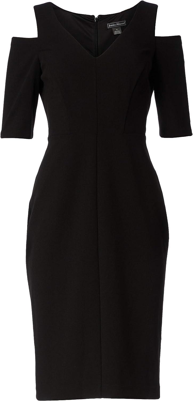 Jessica Howard Women's Elbow Sleeve Cold Shoulder Dress