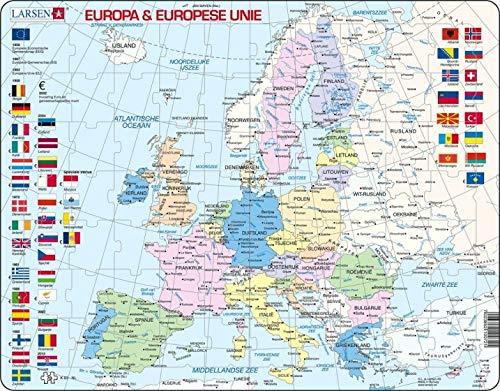 *LARSEN PUZZEL - EUROPA EN EU STAATKUNDIG - K63
