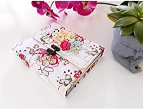 Book Album Handmade Gift Scrapbook for Happy Birthday, Style Shabby Chic Flowers Romantic Love, Woman Mom Lovely for her and him, Memories Fabric Cotton Classic