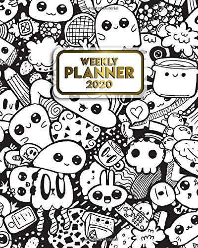 Weekly Planner 2020: Nifty Weekly & Daily Views with To-Do's, Inspirational Quotes and Funny Holidays, Vision Boards & Notes | 2020 Organizer, Diary & Schedule Agenda | Cute Kawaii Cartoon Print