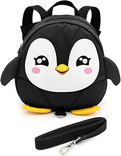 Hipiwe Baby Toddler Walking Safety Backpack Little Kid Boys Girls Anti-Lost Travel Bag Harness Reins Cute Cartoon Pen...