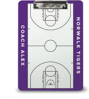 Basketball Coach Board | Dry Erase Coach Clipboard by ChalkTalk Sports | Multiple Colors