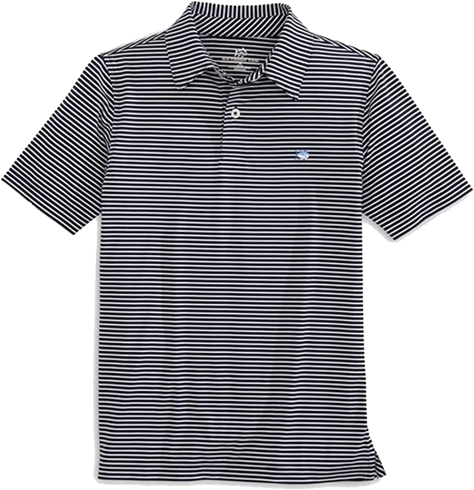 Southern Tide Youth Driver Stripe Perf Polo