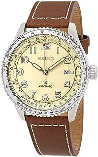 SEIKO Prospex SKY Navitimer Automatic Pilot Watch Beige SRPB59K1