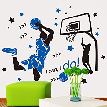 Color 3D Basketball Background Wall Decoration Painting Environmental Protection 3D Three-Dimensional Creative Wall Stickers