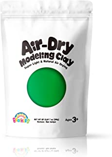Sago Brothers Air Dry Clay, Modeling Clay for Kids, Molding Magic Clay for Slime add ins & Slime Supplies, Kids Gifts Art Set for Boys Girls - Green