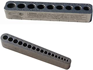 V-Drill Guide Standard Hole Sizes 1/8-1/2 Inches - 2 Pack