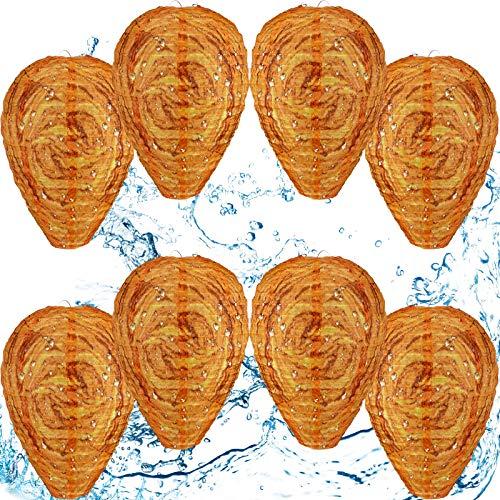 Esche Impermeabili del Nido della Vespa Panno Falso Deterrenti Hornet Appesi Nido di Vespe Deterrente Esca Non Tossico per Api per Casa e Giardino all'Aperto (8 Pezzi)
