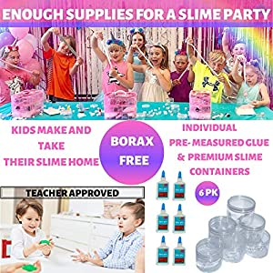 Unicorn Slime Science Kit for Girls- Huge DIY Educational Activities Learning set- Non toxic, Comes with everything for kids to make slime experiments + glow in the dark and primary colour mixing.