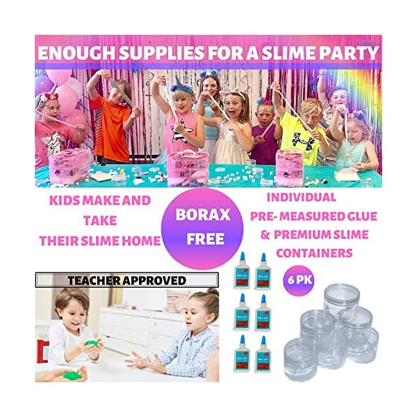 Unicorn Slime Science Kit for Girls- Huge DIY Educational Activities Learning set- Non toxic, Comes with everything for kids to make slime experiments + glow in the dark and primary colour mixing. 4