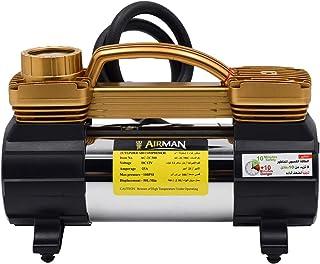 منفاخ هواء ايرمان دبل سلندر للكفرات السيارات، قوة دفع فعالة 50 لتر/ الدقيقة