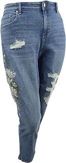 Style & Co. Womens Plus Denim Curvy Fit Boyfriend Jeans