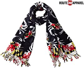 Route One Apparel | Women's Maryland Flag Crab Pattern Scarf