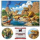 GREAT ART Fototapete Dinosaurier 210 x 140 cm – Kindertapete Kinderzimmer 5 Teile Tapete inklusive Kleister