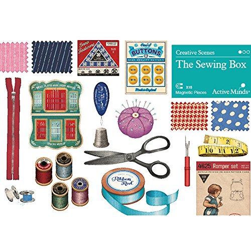 The Sewing Box Creative Scenes Magnet Puzzles by Active Minds | Specialist Alzheimer's/Dementia Activities & Games