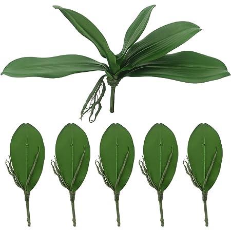 Lopkey 2 Pcs Artificial Foliage Orchid Leaf Picks Simulation Phalaenopsis Furniture Decor