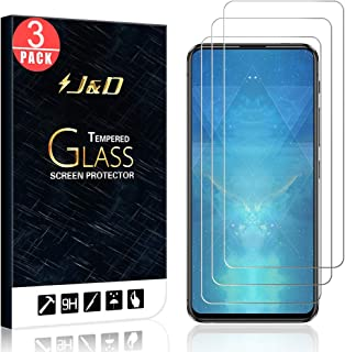 J&D Compatible for 3-Pack ZenFone 6 Glass Screen Protector, [Tempered Glass] [Not Full Coverage] HD Clear Ballistic Glass Screen Protector for ASUS ZenFone 6 Screen Protector
