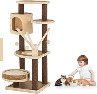Advwin Cat Tree Cat Scratching Tree Post Scratcher Pole Condo Gym Furniture, Sturdy Scratching Posts, and Removable Soft P...