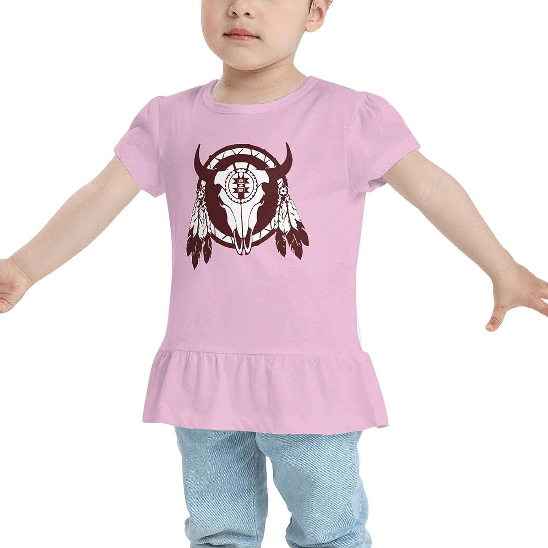 Native American Buffalo Skull Baby Girls Cotton T-Shirt Tees Dresses