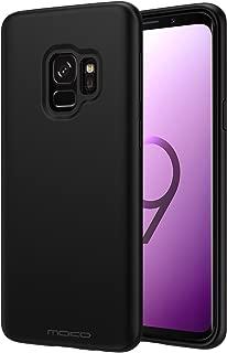 Samsung Galaxy S9 Case, MoKo Liquid Silicone Gel Rubber Slim Fit Shockproof Case with Soft Microfiber Cloth Lining Cushion for Samsung Galaxy S9 5.8 Inch 2018 - Black