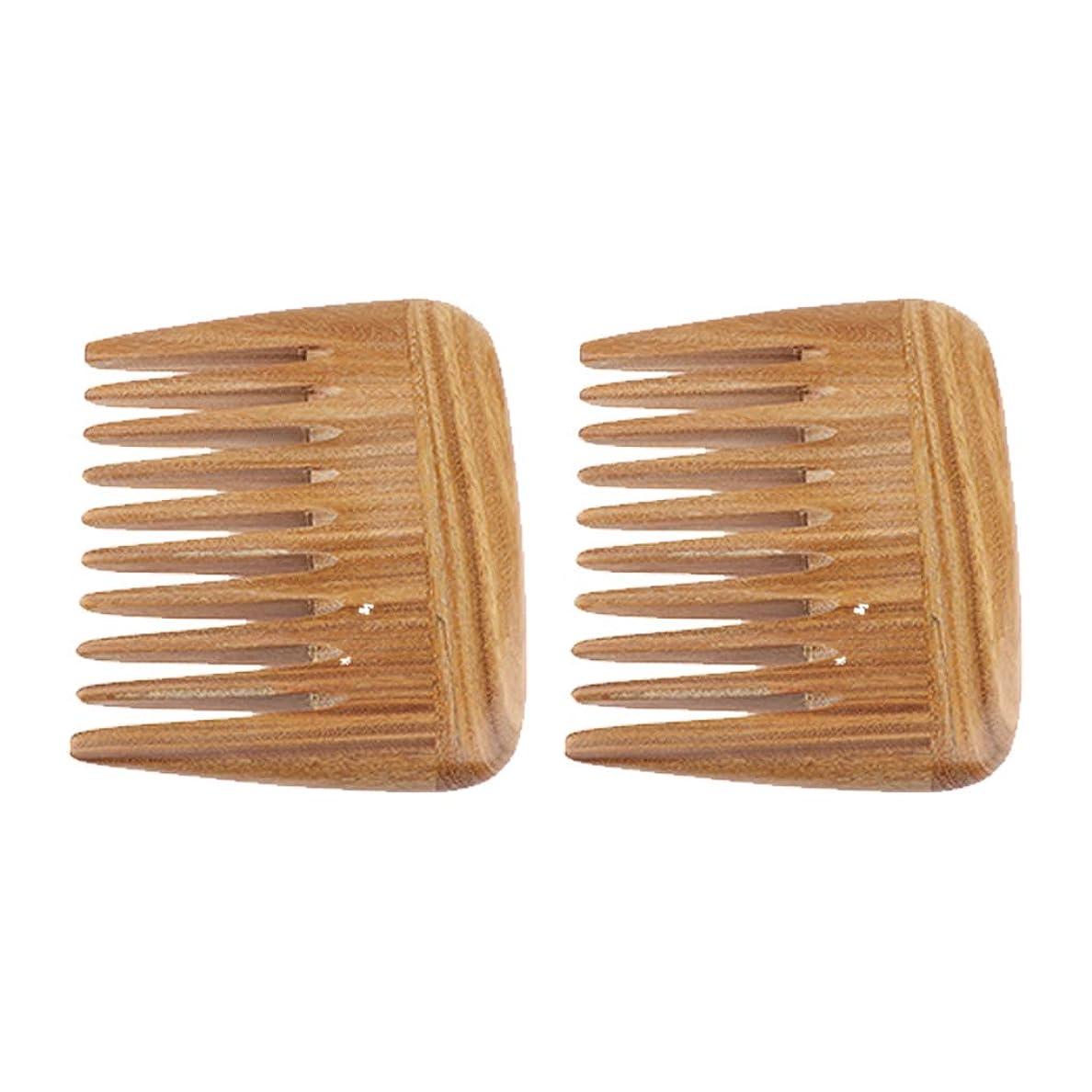 先史時代の提供雰囲気B Blesiya 2個 静電気防止櫛 ポケット ヘアコーム マッサージ櫛 広い歯