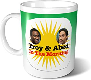 Troy And Abed In The Morning Ceramic Coffee Mug Tea Cup For Office And Home Dishwasher And Microwave Safe 330 Ml