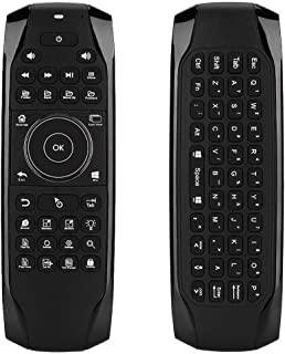 Tangxi 2.4G Wireless Air Mouse, Backlight Fly Air Mini Mouse Keyboard Remote Control, Nano Receiver for Android TV PC Box HTPCs