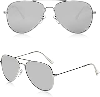 Classic Aviator Polarized Sunglasses for Men Women Vintage Retro Style SJ1054