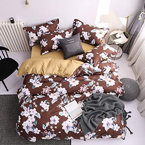 Funda Nórdica De Microfibra De 4 Piezas Adecuado para Hotel, Dormitorio, Ropa De Cama De Dormitorio con Cremallera Y Dos Fundas De Almohada