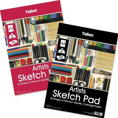 Artbox - Confezione da 20 fogli di carta colorata per sketch, A3