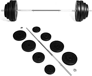 GYMAX Barbell Weight Set, 132 LBS Dumbbell Weight Set with Star-Lock & 8 Plates, Weight Lifting Barbell Kit for Strength Training, Full Body Workout for Home/Gym
