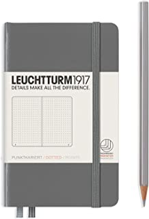 LEUCHTTURM1917 (344778) Notebook Pocket (A6), Hardcover, 187 Numbered Page, Dotted, Anthracite