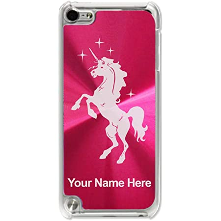 Case Compatible with iPod Touch 5th/6th/7th Generation, Unicorn, Personalized Engraving Included (Red)