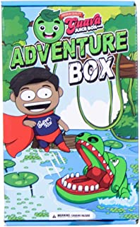 Studio71 Guava Juice Adventure Box - Develop Creativity and Imagination with These Fun Toys for Kids, Collectible Roi Figurine, Hungry Croc, Twisting Tree, Zoopa Ring, and Safari Green Putty