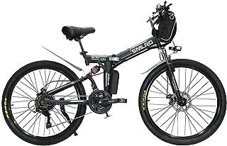 26インチ 折りたたみ式アシスト マウンテンバイク e-bike 大容量48V13Ah350W 最大時速35キロ 5速調整 外装シマノ21段変速 Dブレーキ LEDライト搭載 高炭素鋼フレーム